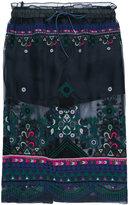 Sacai sheer overlay skirt - women - Cotton/Polyester - 11