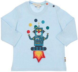 Paul Smith Robot Print Cotton Jersey T-Shirt