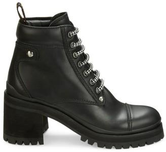Miu Miu Nevermind Leather Combat Boots