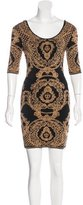 Torn By Ronny Kobo Jacquard Mini dress