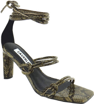 CAVERLEY Cara Metallic Ankle-Wrap Sandals