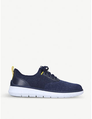Cole Haan ZERØGRAND leather-trimmed stretch-knit trainers