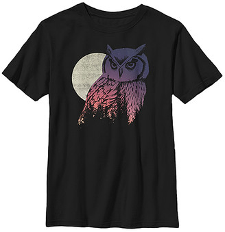 Fifth Sun Boys' Tee Shirts BLACK - Black Owl & Moon Tee - Boys