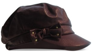 August Hats Faux-Leather Distressed Conductor Cap