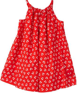 Smiling Button Cherry Print Halter Dress, Size 2-6