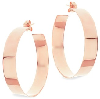 Lana Medium 14K Rose Gold Vanity Hoops