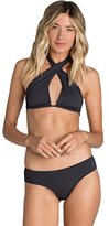Billabong Women's Sol Searcher Wrap Crop Halter Bikini Top