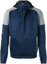adidas hooded zipped jacket - men - Cotton/Polyester/Polyurethane - S