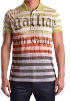 Galliano Men's Multicolor Polyester Polo Shirt.