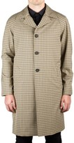 Prada Men's Waterproof Tecno Trench Coat Jacket Checker Camel Olive