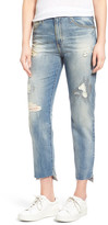 AG Jeans 'The Phoebe' High Rise Slim Straight Leg Jeans (17 Years Laps Mended)