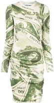 Moschino dollar bill print dress