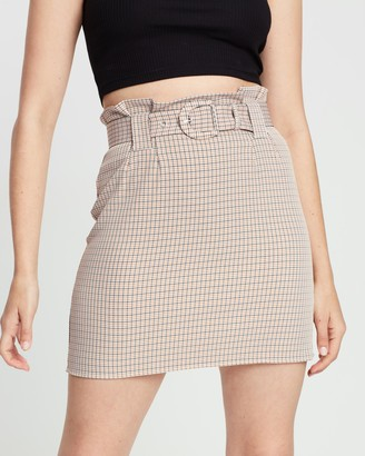 The Fifth Label Nevada Check Skirt