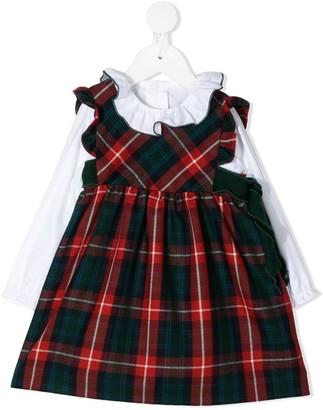 Siola Check Print Midi Dress