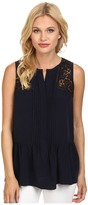 Rebecca Taylor Sleeveless Silk Lace Top