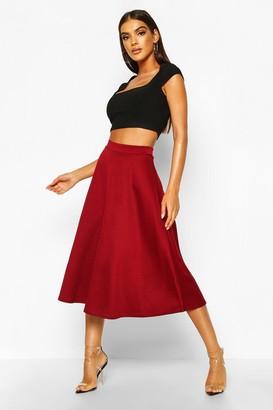boohoo Basic Plain Full Circle Midi Skirt