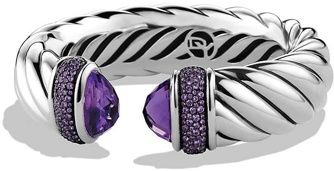 David Yurman Waverly Bracelet with Amethyst & Purple Sapphires