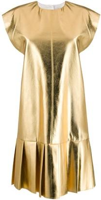 MSGM pleated shift dress