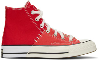 Converse Red Reconstructed Chuck 70 High Sneakers