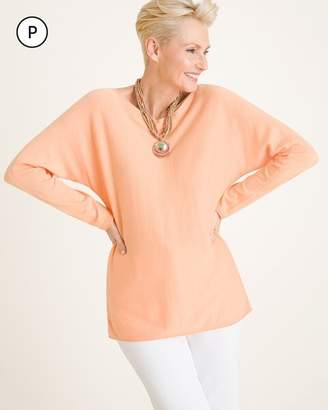 Chico's Petite Long-Sleeve Pullover Sweater
