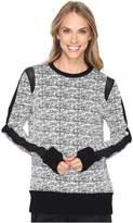 Blanc Noir Texture Sweatshirt