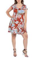 24/7 Comfort Apparel Plus Rust Dress