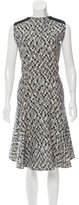 Akris Punto Abstract Print Flared Dress