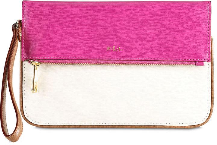 Lauren Ralph Lauren Handbag, Newbury Colorblock Fold Over Wristlet