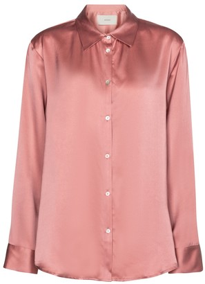 ASCENO London silk satin blouse