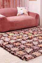 Urban Outfitters Cleo Checked 5x7 Shag Rug