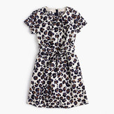 J.Crew Girls' tie-front painted leopard-print dress
