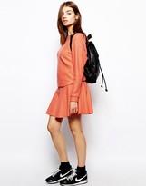 BZR Wool Skirt in Orange