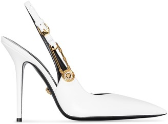 Versace Safety Pin 105mm Slingback Pumps