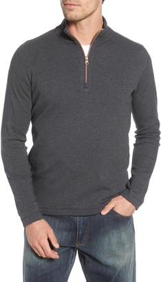 Robert Graham Gold Rush Quarter Zip Cotton Sweater