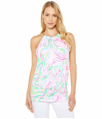 Lilly Pulitzer Women's Draped with a Bottom Band Back Keyhole and a Chain Trim Neckline