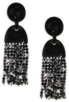 Nest Horn & Agate Long Tassel Earrings
