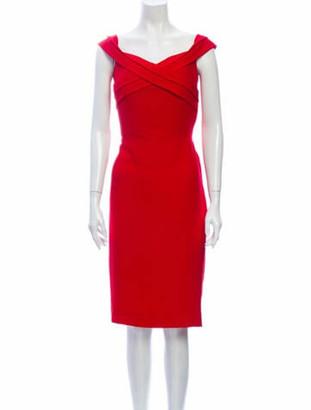 Prabal Gurung Cowl Neck Knee-Length Dress Red