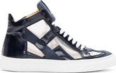 Maison Martin Margiela Navy Cut-Out Iris High-Top Sneakers