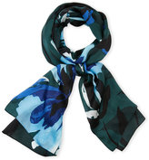 Vince Camuto Floral Watercolor Silk Scarf