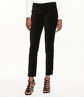 Lauren Ralph Lauren Petites Solid Stretch-Velvet Skinny Pant