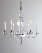 Horchow Visual Comfort George II Large 6-Light Polished-Nickel Chandelier