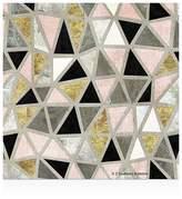 Thirstystone Marbled Geometric Blush Coasters, Set of 4
