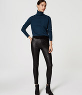 LOFT Faux Leather Paneled Ponte Leggings