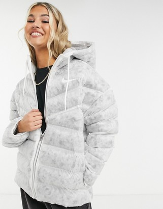 Nike Revival Eco-Down padded jacket in white