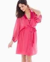 Soma Intimates Sensuous Lace Short Robe Honeysuckle/Ruby