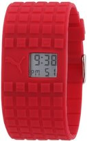 Puma Women's 'Cell' Quartz Plastic and Silicone Sport Watch, Color:Red (Model: PU910832009)