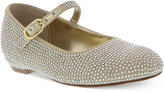 Nina Little Girls' or Toddler Girls' Zelia-T Studded Satin Mary Janes