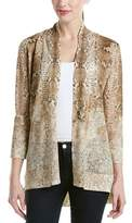 Magaschoni Silk & Cashmere Blend Burnout Long Sleeve Cardigan.