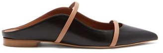 Malone Souliers Maureen Backless Leather Flats - Black Nude