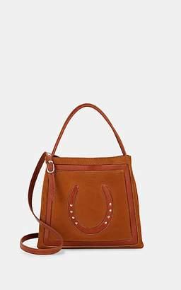 Fontana Milano Women's Lucky Small Suede Crossbody Bucket Bag - Ranch